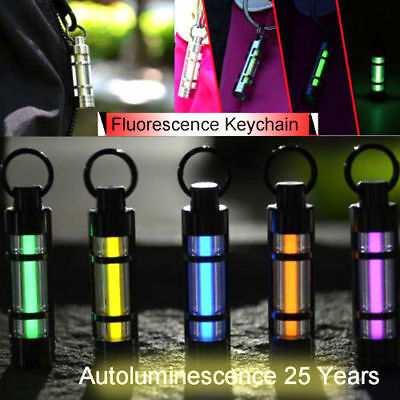 Titanium Tritium Gas Keychain Cool Fluorescent Light Autoluminescence 25 Years