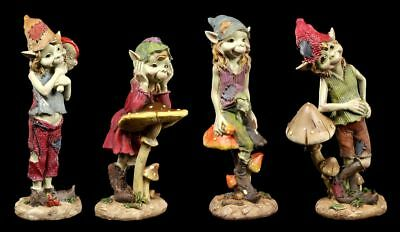 Pixie Figuren - Pilze sind toll - 4er Set - Anthony Fisher Kobold Fantasy