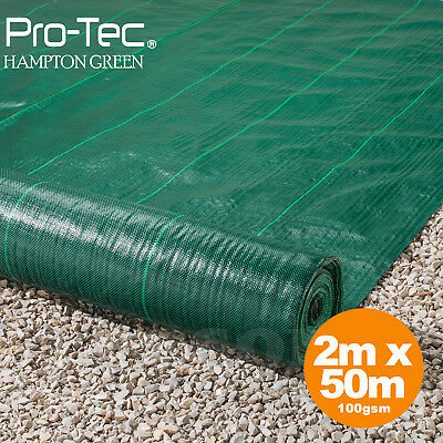 2m x 50m weed control fabric heavy duty driveway garden ground cover membrane
