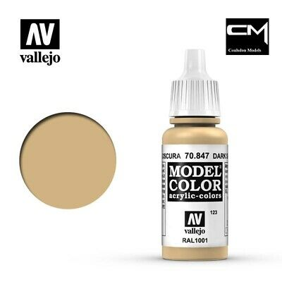 Vallejo Model Color Dark Sand 70.847 (123) - 17ml Acrylic Paint