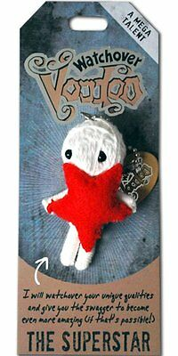 """Watchover VOODOO DOLL Keychain, THE SUPERSTAR, A Mega Talent, 3"""" Tall"""