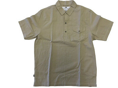Fourstar Collective Men's short-sleeved Tan Shirt - Large