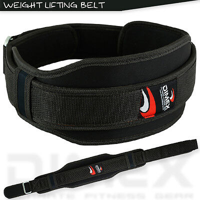 New Weight Lifting Neoprene Belt Gym Excercise Fitness Back Support Blk S/M,L/XL