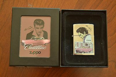 ZIPPO Lighter, Elvis Presley Pink Cadillac Ltd Edition, 774/7500, Sealed, M727