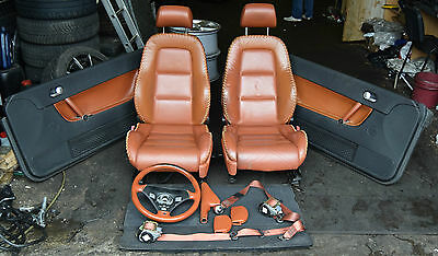 Audi TT MK1 8N Convertible Cabrio Baseball Opic Brown Leather Interior Complete