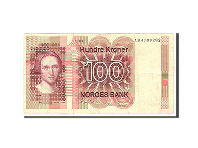 [#115735] Norwegen, 100 Kroner, 1981, KM:41c, Undated, S