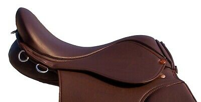 Synthetic General Purpose Halflinger Saddle Wide fit 16, 17 & 18 Premium Quality