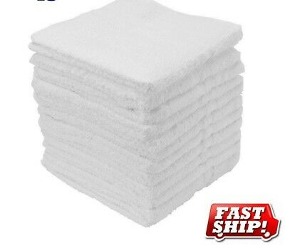 30 cotton terry cloth cleaning bar towels shop rags 12x12 100% cotton