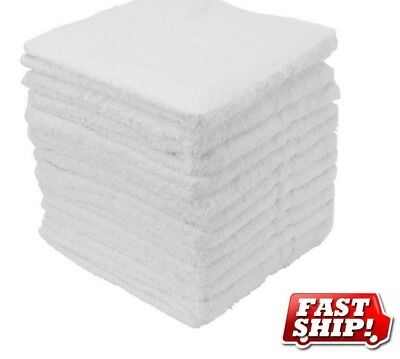 40 cotton terry cloth cleaning bar towels shop rags 12x12 100% cotton