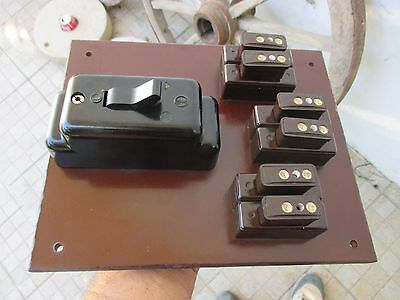 antique vintage house bakelite fuse box holder panel 220 v with rh picclick co uk
