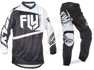 Fly Racing Black F-16 Jersey & Pant Combo Sizes MX/ATV/BMX/MTB 2017 Riding Gear