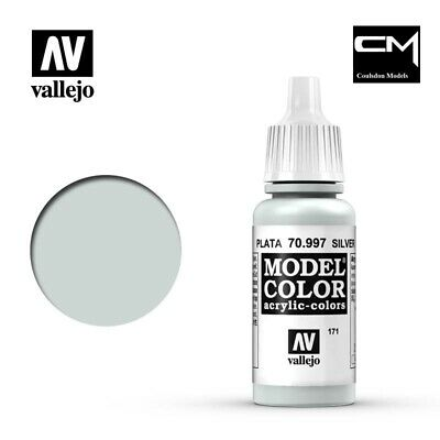 Vallejo Model Color Metallic Silver 70.997 (171) - 17ml Acrylic Paint