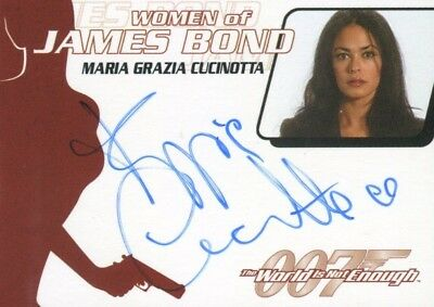 James Bond The Quotable James Bond Maria Grazia Cucinotta Autograph Card WA22