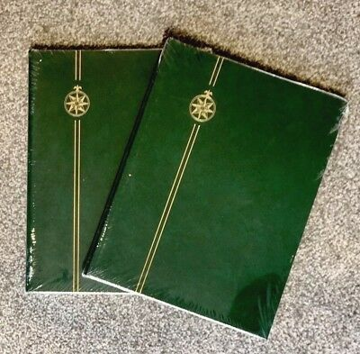 x2⭐️A4** Green Stamp Album StockBooks - 8 Pages/ 16sides ~ BLACK PAGES ~