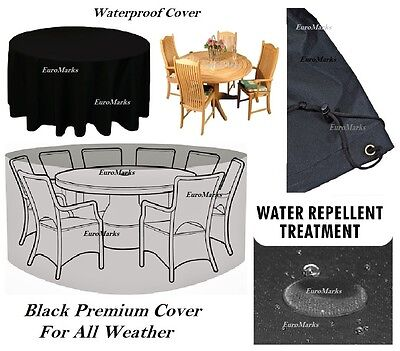 New Round Waterproof Outdoor Garden Bbq Table Furniture Circular Cover All Sizes