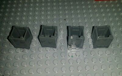 x4 NEW GREY Container, box, crates  2 x 2 x 2   , Lego Bulk lot