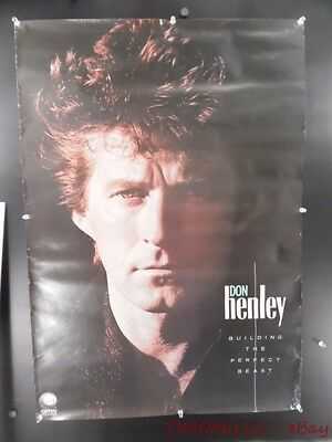 1984 DON HENLEY BUILDING THE PERFECT BEAST Record Store Promo Poster Vintage