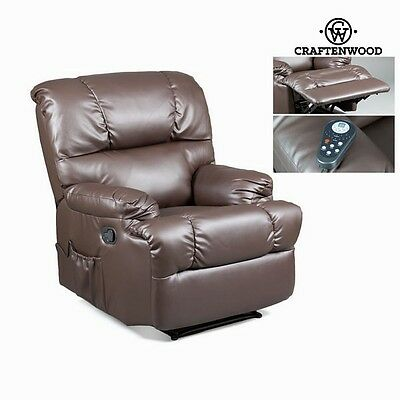 **CRAFTENWOOD** Leather Massage Chair Electric Recliner Relax Massager Armchair
