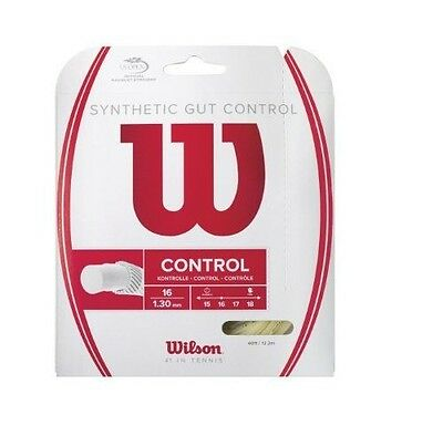 Wilson Synthetic Gut Control 40-Feet Tennis String Set, Natural, 16