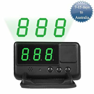 Head-up Display HUD Car GPS Speedometer Digital LED Overspeed Warning MPH/KM/h
