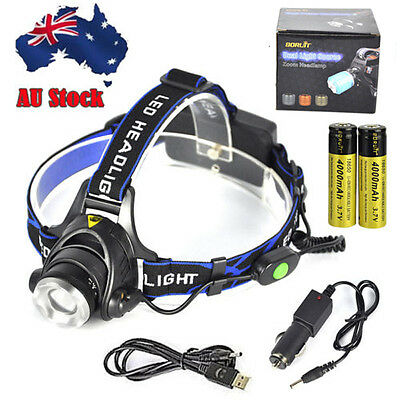 11000lm XM-L T6 LED Headlamp Rechargeable Headlight Zoom Head Torch Lamp 18650