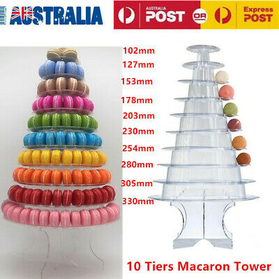 10 Tier Round Macaron Tower Macaron Stand Tower for Wedding Birthday Party