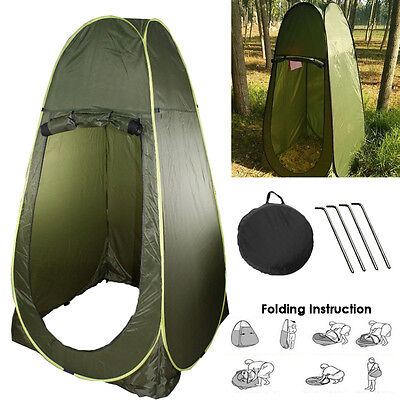 Deluxe Portable Instant Pop Up Tent Camping Toilet Shower Changing Privacy UK