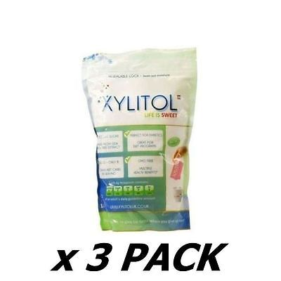 3 Pack of Xylitol Uk - Natural Sweetener Pouch 1kg