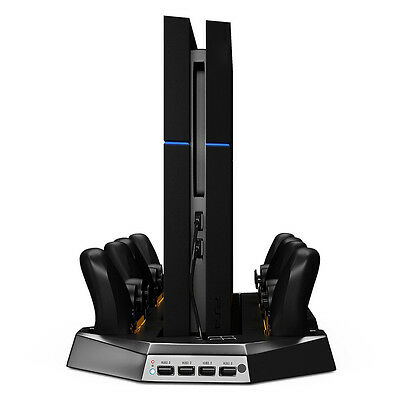 Dual Cooler Fans Vertical Charge Stand for PS4 Playstation 4 Console Controller
