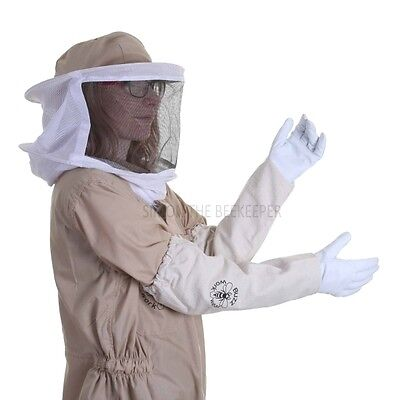 Buzz Basic Beekeepers Suit With Round Veil And Gloves - Khaki