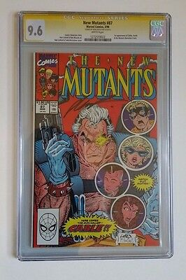 New Mutants #87 CGC 9.6 Signed by Rob Liefield