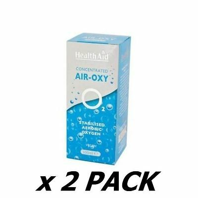 2 Pack of Health Aid - Air Oxy (Stabilised Aerobic Oxygen) 100ml