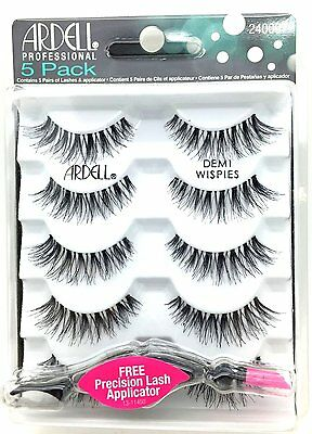 Ardell demi Wispies 5 Pair Multipack With FREE LASH APPLICATOR 100% ORIGINAL