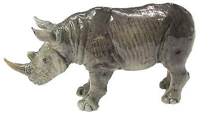 Northern Rose Miniature Porcelain Animal Figure Rhino Standing R177