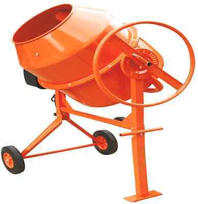New Professional 200 Litres 800W Concrete Cement Mixer With Stand & Wheels Large
