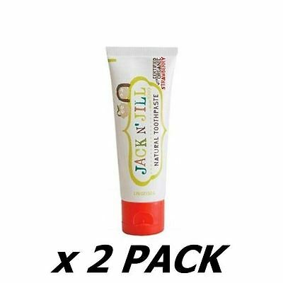 2 Pack of Jack And Jill Kids - Natural Toothpaste - Strawberry 50ml