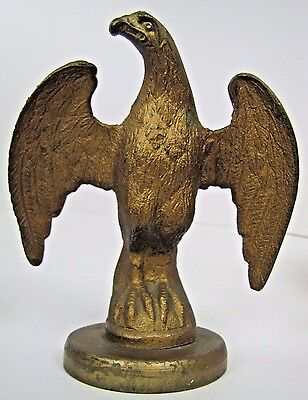 Antique Eagle Brass/Bronze Decorative Art Large Paperweight Architectural Topper