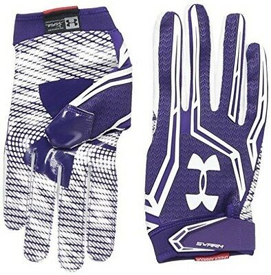 Under Armour Men's Swarm II Football Gloves, Purple (500), XX-Large