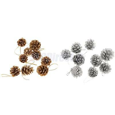 9x Christmas Xmas Hanging Ornament Pinecones PartyTree Decoration Home Decor
