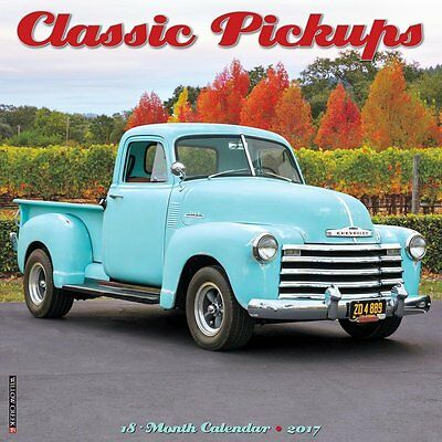 2017 Classic Pickups Monthly Wall Calendar Trucks Vintage Retro Collector Old