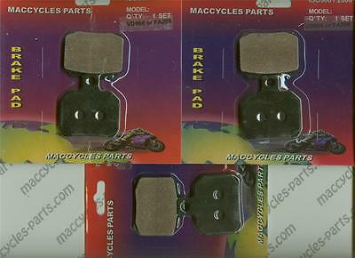 Piaggio Vespa Disc Brake Pads Beverly B 500 2002-2004 Front & Rear (3 sets)