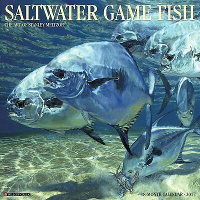 2017 Saltwater Fish Monthly Wall Calendar - Under Water Deep Sea Photography