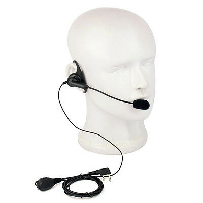 D-Shape Headset Ptt Earpiece Headsets With Boom Mic For Kenwood Baofeng Radio