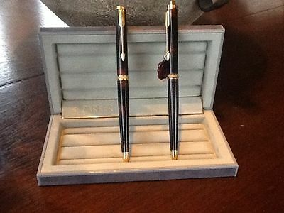 Parker Premier Chinese Laquer Ballpoint Pen & Pencil Set   New In Box