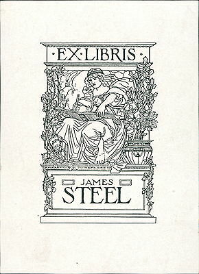 Ex-Libris 'James Steele'  Bookplate      (JC.39)