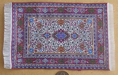 1:12 Scale 10cm x 15.5cm Woven Turkish Rug Dolls House Miniature Carpet P13s
