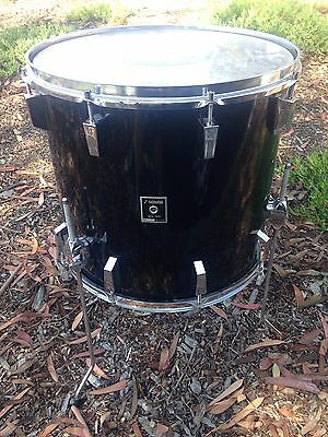 Vntg 1975 Sonor Germany 18X16 Floor Tom. Gloss Black,  Real Nice !