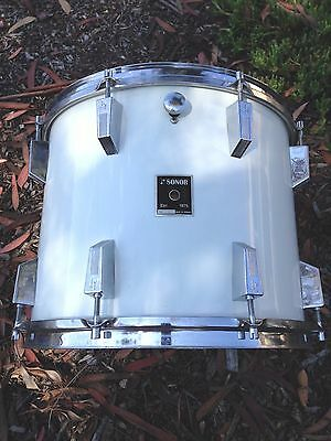 Vntg 1975 Sonor Germany 15X12 Mounted Tom. Gloss White,  Real Nice !