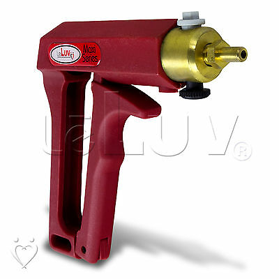 LeLuv MAXI Red Penis Vacuum Pump w/ Safety Valve Brass Hand Operated Enlargement