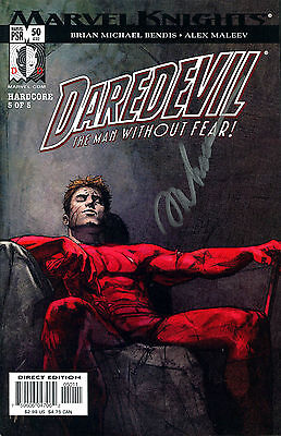 Daredevil #50 The Man Without Fear! Signed By Artist Alex Maleev (Lg)